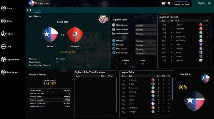 MMA Team Manager Game Free Download Torrent